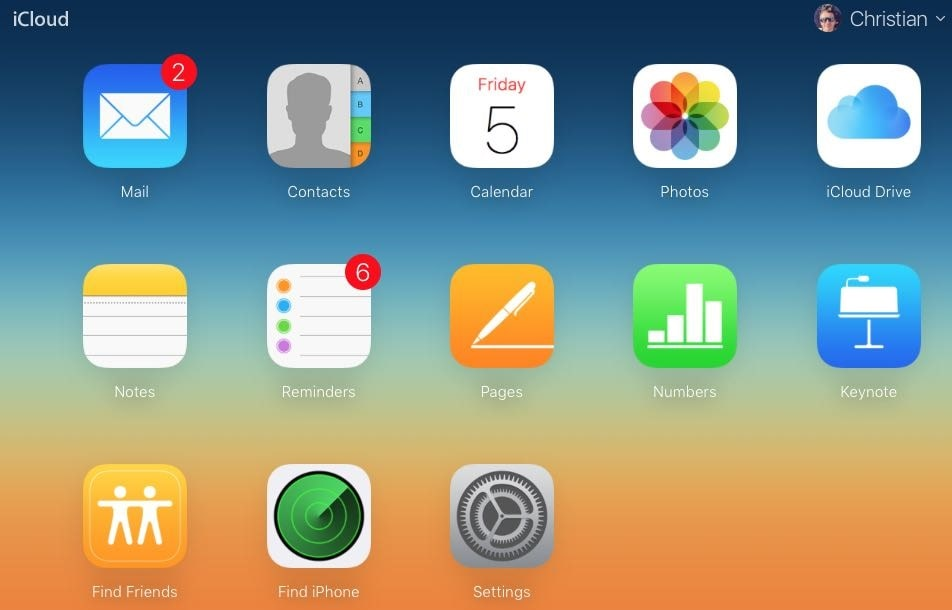 Find My iPhone در سرویس آیکلود