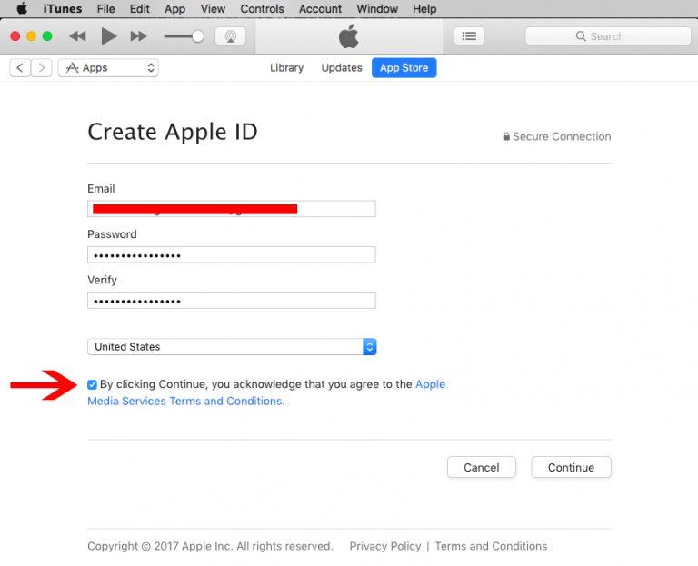 مراحل ساخت اپل آیدی